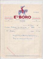 31-Boro..Imperméables.Tissus.Soierie.Bonneterie....Toulouse..(Haute-Garonne)..1956 - Vestiario & Tessile