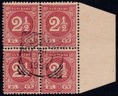✔️ Suriname 1890 - Cijfer Numerals In Blok - NVPH 18 (o) - Luxe - Surinam ... - 1975