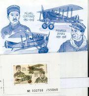 FRANCE.As De L'aviation De La Première Guerre Mondiale: Michel Coiffard & Maurice Boyau. B-F Neuf ** Haute Faciale - WW1 (I Guerra Mundial)