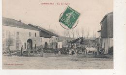 CPA  DOMPIERRE RUE DE L EGLISE - France