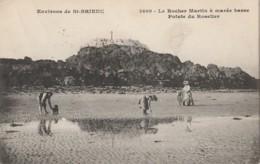 I24-22) ENVIRONS DE SAINT BRIEUC - LE ROCHER MARTIN A MAREE BASSE  POINTE DU ROSELIER  -(ANIMEE - 2 SCANS) - Saint-Brieuc