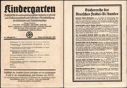 German Empire Magazine - D. Reich Zeitschrift Mit 26 Seiten - KINDERGARTEN Nr.1. Leipzig, Hartung / Jan.1935 - Zeitungen & Zeitschriften