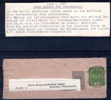 Österreich  Vorausentwertungen 1920 - 21 Ohne Angabe Der Versandzeit  Streifband - 1918-1945 1a Repubblica