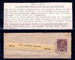 Österreich  Vorausentwertungen 1910 - 1921  Vorausentwertung  Streifband - 1918-1945 1a Repubblica