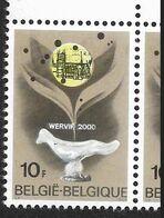 1451-V1 En Paire - Coin De Feuille - Variété Collier Sur Le Cou Du Pigeon P2 T4  (Alb. Noir N° 32) - Variétés Et Curiosités