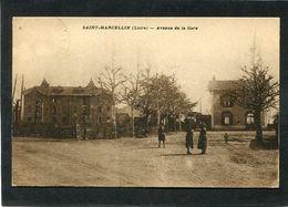 CPA - SAINT MARCELLIN (Loire) - Avenue De La Gare, Animé - Other Municipalities