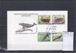 Dominicanische Republik Michel Cat.No. FDC 1749/1752 Whale - Dominicaanse Republiek