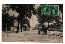 NEUILLY SUR MARNE BOULEVARD DE LA MARNE ATTELAGE TRAM  ANIMEE - Neuilly Sur Marne