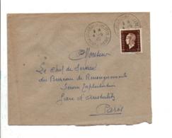DULAC N°692 SEUL SUR LETTRE DE BOURRON MARLOTTE SEINE ET MARNE 1945 - 1921-1960: Modern Tijdperk
