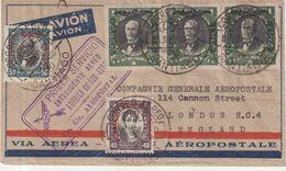 CHILI : PLI TEMOIN . DU 1er SERVICE ENTIEREMENT AERIEN . AMERIQUE DU SUD - EUROPE . 1930 . - Chile