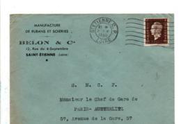DULAC SUR LETTRE A EN TETE DE SAINT ETIENNE 1945 - 1921-1960: Periodo Moderno