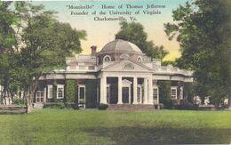 07 - 2020 - USA - ETATS UNIS - VIRGINIE - Charlottesville - Monticello - Home Of Thomas Jefferson - Etats-Unis