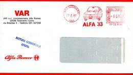 1990 - AUTO ALFA ROMEO MOTOR - ALFA 33 - EMA METER STAMP FREISTEMPEL AFFRANCATURA MECCANICA ROSSA - Autos