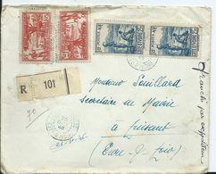 COTE D IVOIRE - Lettre  RECOMMANDEE Au Départ De FERKESSÉDOUGOU - Ivory Coast (1892-1944)