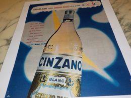 ANCIENNE PUBLICITE APERITIF BLANC   CINZANO 1959 - Alcools
