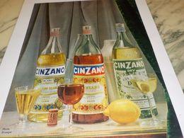 ANCIENNE  PUBLICITE CINZANO  1953 - Alcools