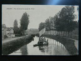 POGNY       VUE DU CANAL EN AMONT DU PONT - Sonstige Gemeinden