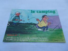 CP HUMOUR SERIE CAMPING  LE CAMPING REGLE N° 1  FUMEUR ET POMPIER - Humour