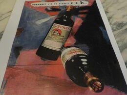 ANCIENNE PUBLICITE APERITIF VIN TONIQUE  DUBONNET 1959 - Alcools