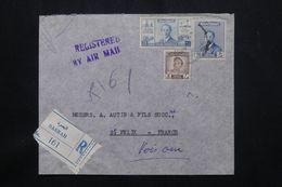IRAQ - Enveloppe Commerciale En Recommandé De Basrah Pour La France En 1956 - L 65278 - Iraq
