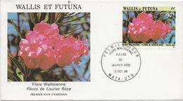 WALLIS ET FUTUNA -FDC AFFRANCHIE N° 351 FLEUR DE LAURIER -ANNEE 1986 - FDC
