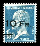 N°4, Pasteur Surchargé à Bord Du Paquebot 'Ile De France', 10F Sur 1F50 Bleu, Quasi **, SUP. R.R. (signé Champion/certif - 1927-1959 Ungebraucht