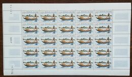 Madagascar - Feuille De 25 Timbres - YT N°413 - Piroguier Postal - 1964 - Neuf + COIN DATE - Madagascar (1960-...)
