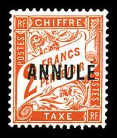 N°41-CI 1, 2F Rouge-orange Surchargé 'ANNULE', Très Bon Centrage, SUP (signé Brun/certificat)  Qualité: **  Cote: 900 Eu - Instructional Courses