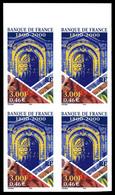 N°3299, Banque De France, Non Dentelé Accidentel En Bloc De 4 Bdf. SUP (signé Calves/certificat)  Qualité: **  Cote: 180 - Variétés: 2000-09 Neufs
