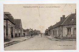 - CPA TREMBLAY-LE-VICOMTE (28) - La Route De Châteauneuf (avec Personnages) - Photo-Edition J. Moos - - Autres Communes
