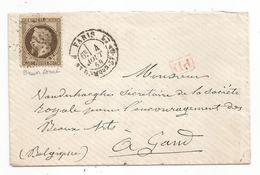 """- SEINE - PARIS - Etoile 20 S/TP Napoleon Lauré N°30 + """"PD"""" Rouge + Càd Type 17 - 1869 - 1863-1870 Napoléon III Con Laureles"""