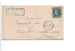 LETTRE DE FERE EN TARDENOIS AISNE 1870 - 1849-1876: Période Classique