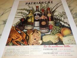 ANCIENNE PUBLICITE VIN JEAN BAPTISTE DE PATRIARCHE 1957 - Alcools