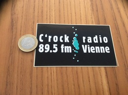 AUTOCOLLANT, Sticker *x «C'rock Radio 89.5 Fm Vienne» - Aufkleber