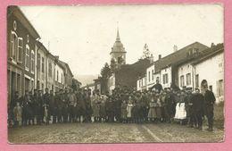54 - CHAVIGNY - Carte Photo - Rue - Eglise - Enfants - Soldats Français - Other Municipalities