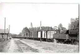 Photo J.H Renaud Format Cpa Pouilly Sur Serre La Gare Et Le Train Tramway - Otros Municipios