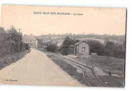 CPA 53 St Saint Jean En Mayenne La Gare Et Le Train Tramway - Francia