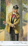 "Adolf 'Jodolfi'  -  ""The Rose Cavalier"" : Obviously Mistaken As He Is Being Kept Waiting. - Adolf 'Jodolfi'"
