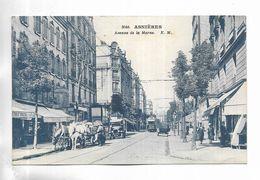 92 - ASNIERES - Avenue De La Marne. Animée. Carte Bleutée - Asnieres Sur Seine