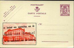 56188 Belgium Publibel  632 Bank Van Brussel  65c - Stamped Stationery