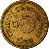 Monnaie, Turquie, 5 Kurus, 1950, TTB, Laiton, KM:887 - Turquie