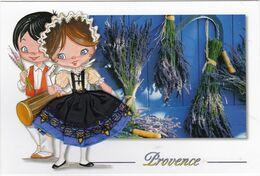 CARTE BRODEE: La PROVENCE, Séchage De La Lavande - Brodées