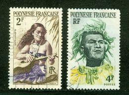 French Polynesia; Scott # 186 + 185; Usagés (3341) - Polinesia Francese