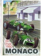 Grand Prix De Monaco 1960  -  Publicité D'epoque  -  Art Carte  -  CPM - Grand Prix / F1