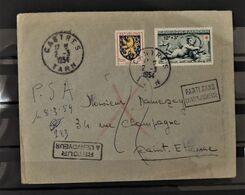 07 - 20 - Lettre De Castres Avec N°903 Et Croix Rouge 937  - Griffes Retour à L'envoyeur + Parti Sans Laisser D'adresse - France