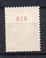 0,30 Cheffer : N° 1536b Neuf ** - N° Rouge Au Verso - Cote 15€ - 1967-70 Marianne De Cheffer