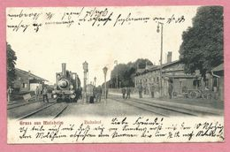 67 - GRUSS Aus MOLSHEIM - Gare - Bahnhof - Train - Locomotive à Vapeur - Molsheim