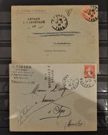 07 - 20 - 2 Lettres Avec Griffes Retour à L'envoyeur - France