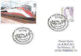 ITALIA - 2000 LUCCA Giubileo 2000 26° Filatelisti Ferrovieri (treno ETR 500) - 3944 - Trains