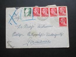 Italien 1939 Bondeno - Putliz Brief Mit 6 Marken, Davon Eine Mit Blaustift / Ungültig!! - Versichert